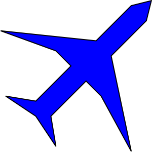 Blue Airplane Clipart