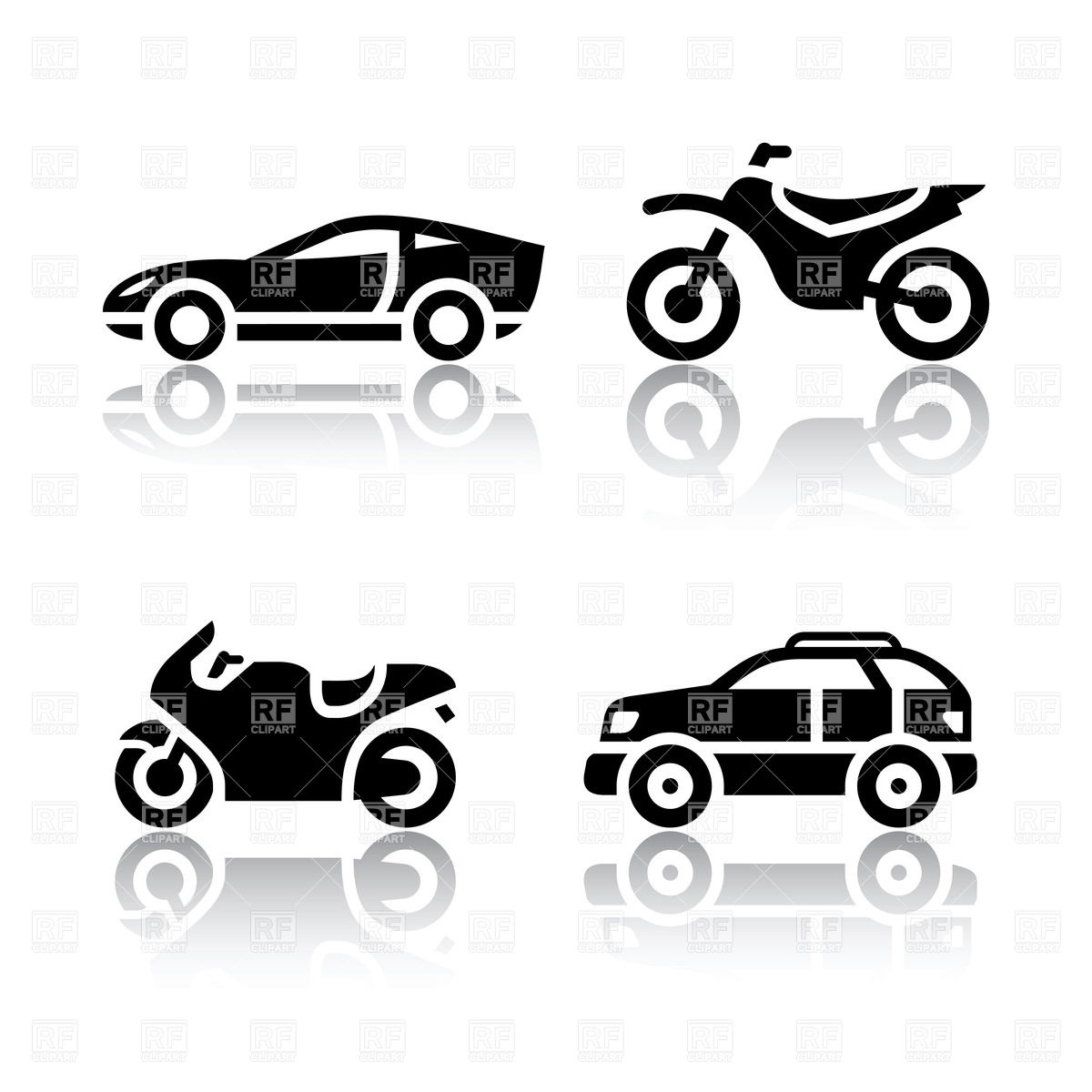 Car And Motorcycle Outline Clipart Clip Art Bay