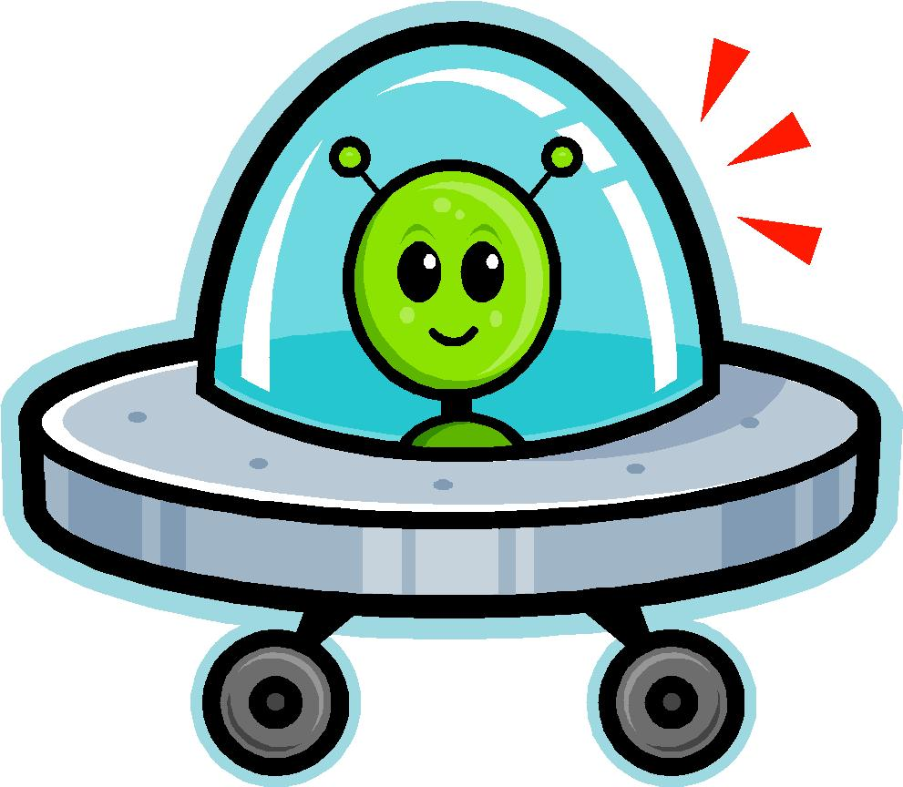Cartoon Alien Spaceship