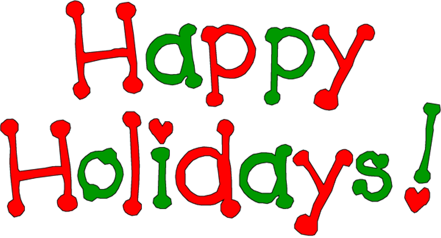 Christmas Happy Holidays Clipart