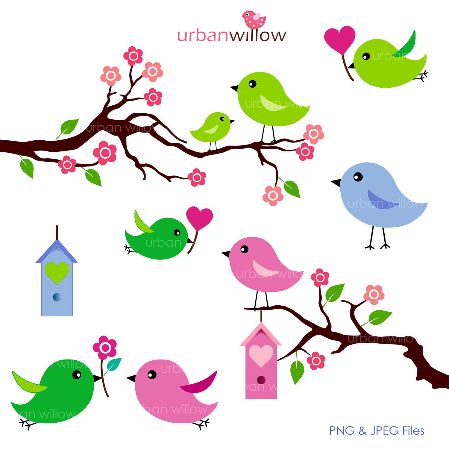 Love Birds Clipart