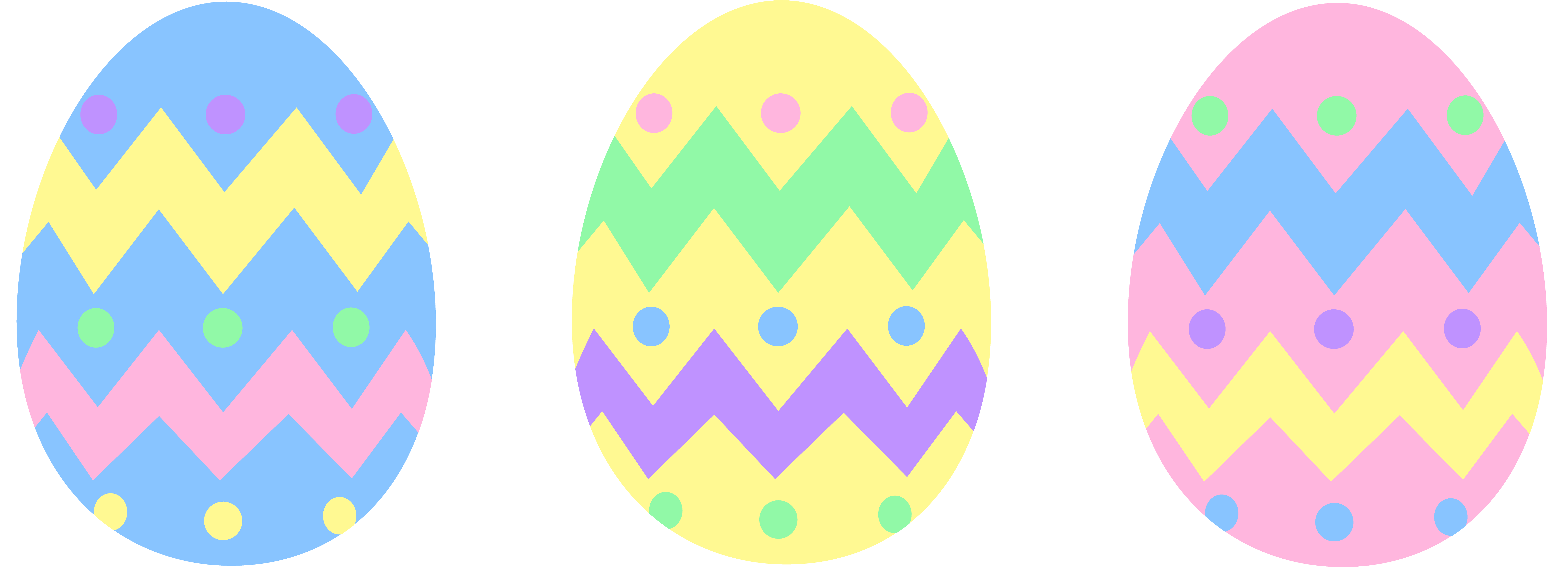 Clipart Easter Eggs - Clipart Bay
