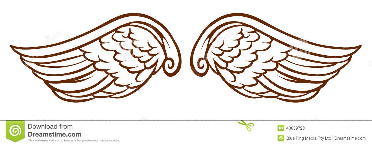 free angel wings with halo clip art - photo #42