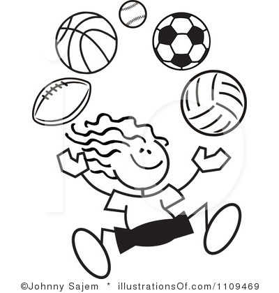 Sports Clipart Black And White Clip Art Bay
