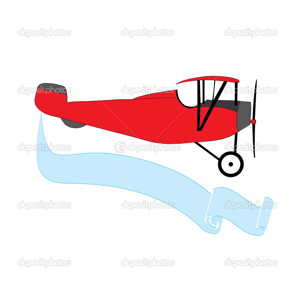 Airplane With Banner Clipart - Clipart Bay Vintage Airplane With Banner Clipart