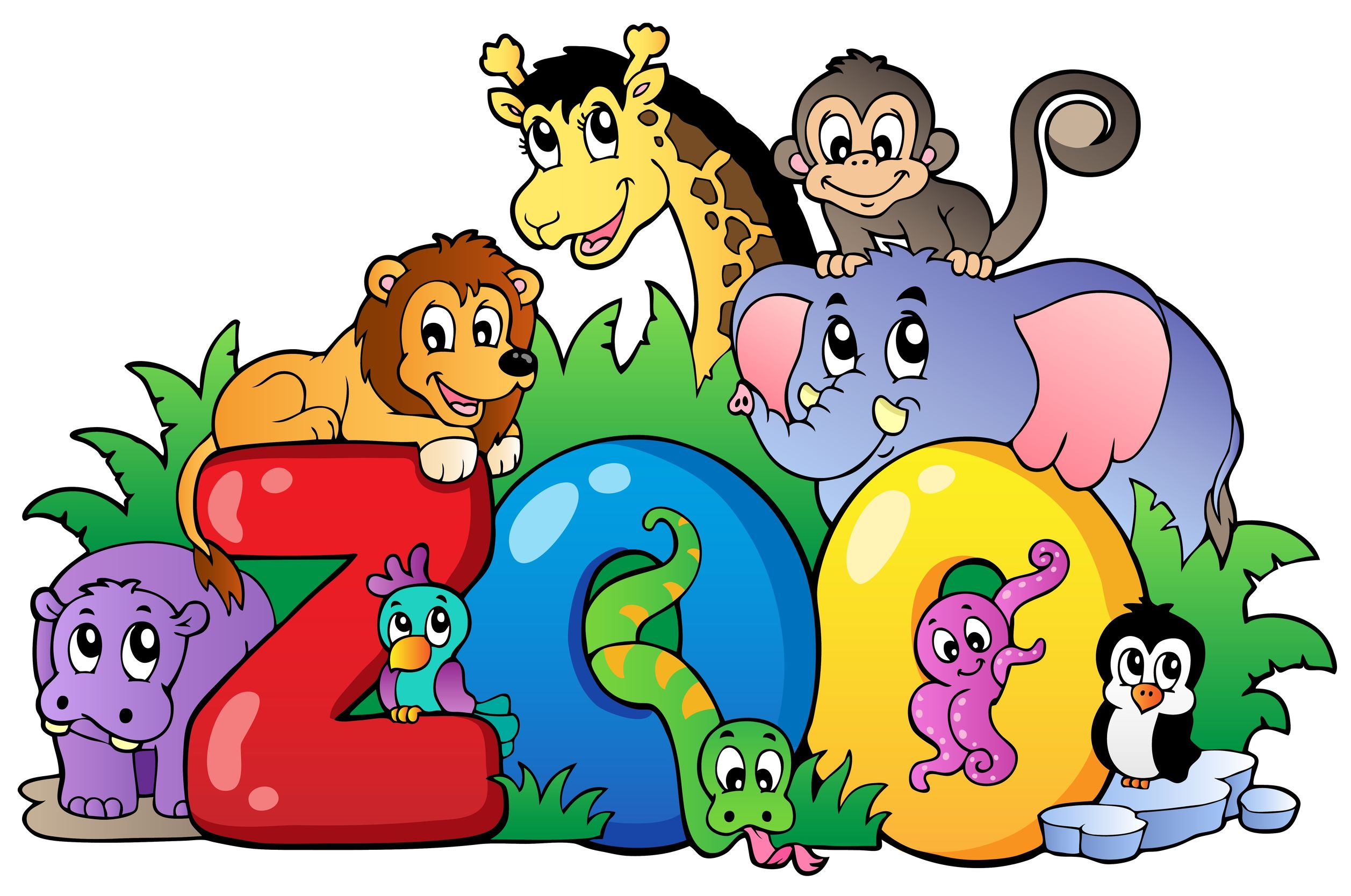 Clip Art Zoo Animals - Clipart Bay